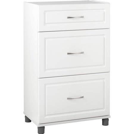 "SystemBuild 24"" 3 Drawer Base Cabinet, White   Walmart.com"