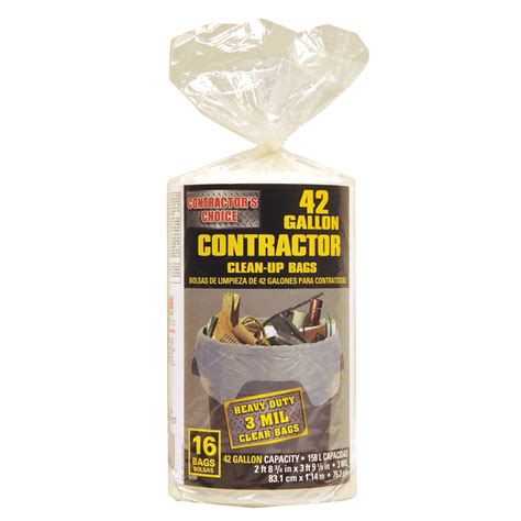 shop contractor s choice 16 count 42 gallon plastic
