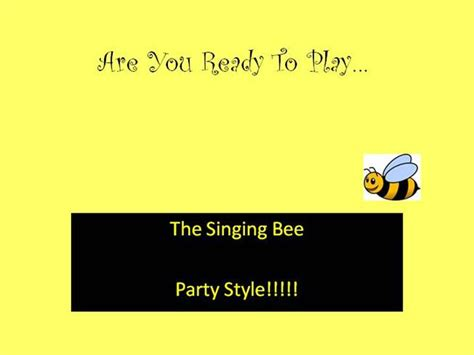 Sing Bee Authorstream Singing Bee Powerpoint Template