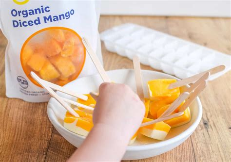 Frozen Mango Cheesecake frozen mango cheesecake bites 4 ingredient healthy treat