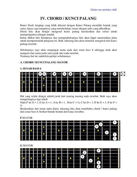 tutorial belajar kunci gitar palang belajar gitar dasar disertai gambar