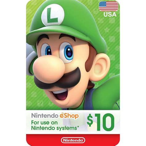 Nintendo Eshop Usa 20 10 usa ecash nintendo eshop gift card switch wii u