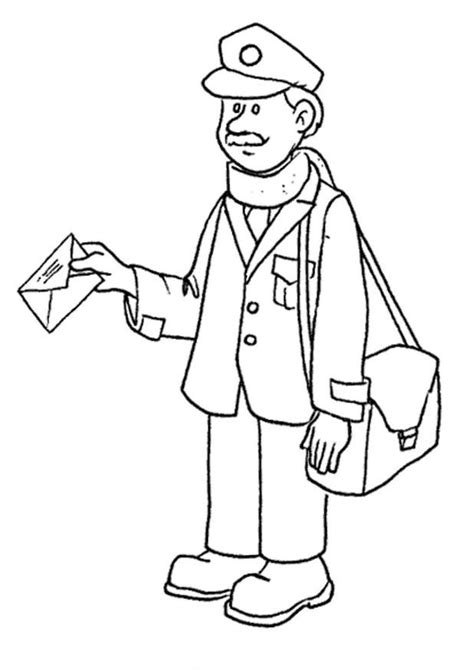 Mailman Coloring Pages free coloring pages of postman