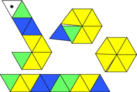 Hexaflexagon Origami - flexagon craft project template printable templates and und
