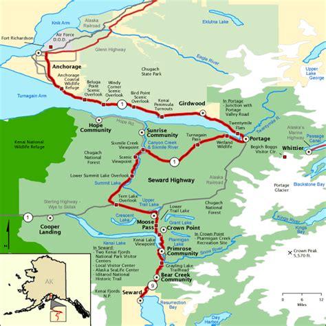 us map seward alaska sidekick tours seward highway