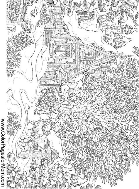hard landscape coloring pages landscape coloring page 15 paper snowflakes crafts