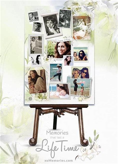 17 Best Images About Memorial Board On Pinterest Funeral Ideas Funeral Memorial And Photo Mosaic Funeral Photo Collage Template