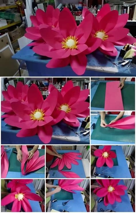 How To Make A Paper Lotus Step By Step - diy large paper lotus flower usefuldiy