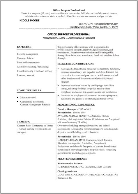A Resume On Word