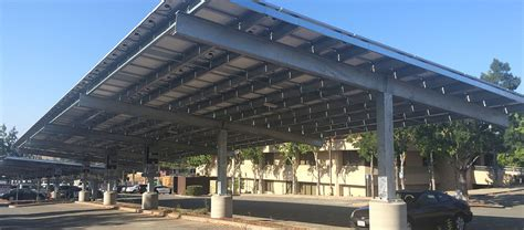 Car Port Designs by Rbi Solar Carport Structures Steel Frame Solar Canopies