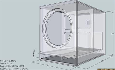 home theater subwoofer enclosure design flisol home