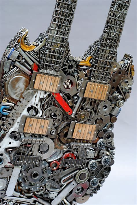 welded sculptures    objects  recycled