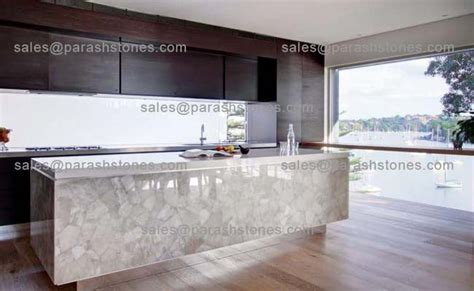 Translucent Quartz Countertops white quartz translucent countertop backsplash slab