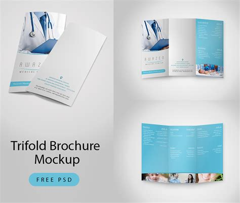 download trifold brochure mockup free psd at