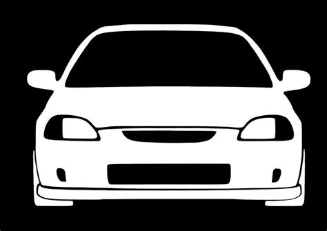 Honda Civic Aufkleber by Honda Civic Jdm 6th Generation White Vinyl Decal Sticker