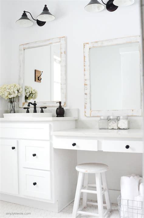 Bathroom Mirror Diy by Farmhouse Bathroom Diy Framed Mirrors Simply Kierste