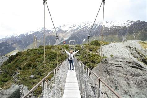 2nd swing hours swing bridge crossing on hooker valley track picture of