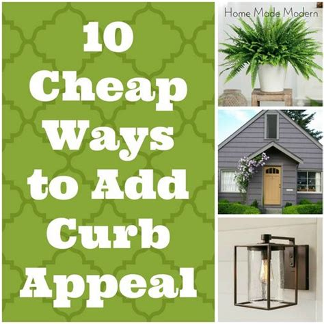 10 cheap ways to add curb appeal i like the mail box idea