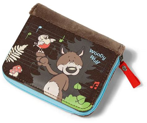 Blissen Forest Friends Pocket Wallet by Nici Forest Friends Woody Wolf Wallet Plushpaws Co Uk