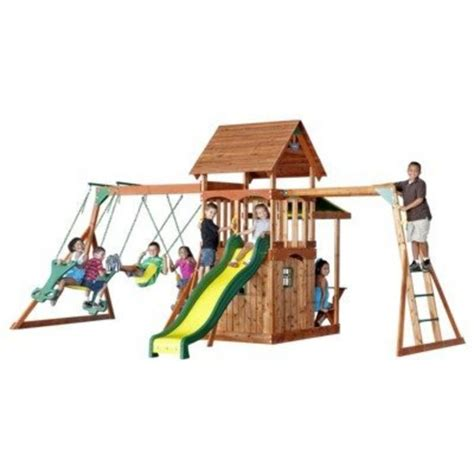 best backyard playsets reviews best rated wooden backyard swing sets for older kids on
