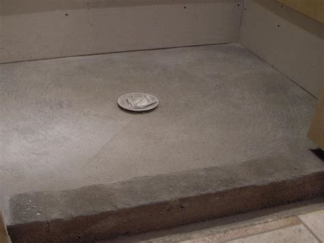 Building A Shower Curb On Concrete Floor by Flooring Concrete Shower Pan Repair How To Build
