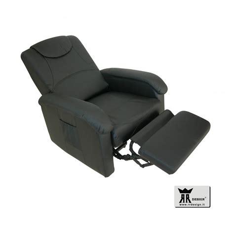 poltrone relax manuali poltrona relax manuale reclinabile ecopelle della linea rr