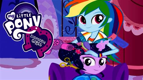 games haircut my little pony equestria girls rainbow dash s hair salon video game youtube