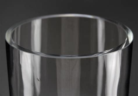 pedestal vase thick glass 24 inch