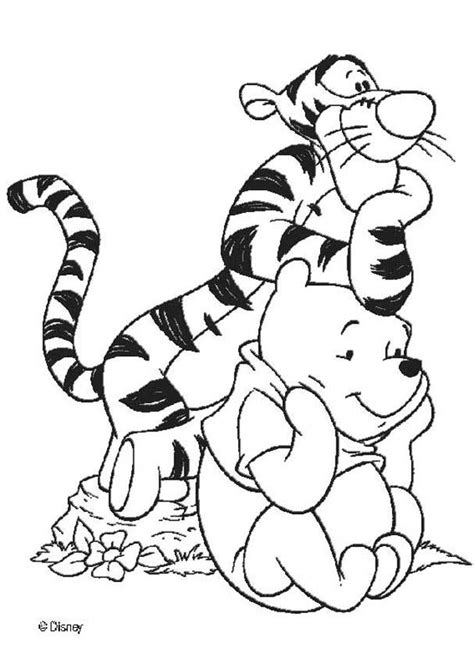 winnie and his friend tigger coloring pages hellokids com