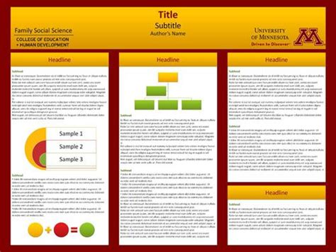 Umn Poster Template of minnesota templates are available for