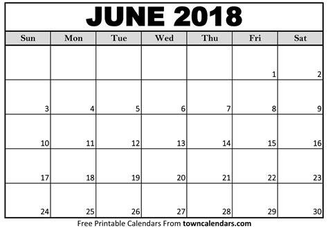 printable calendar june 2018 pdf excel word format