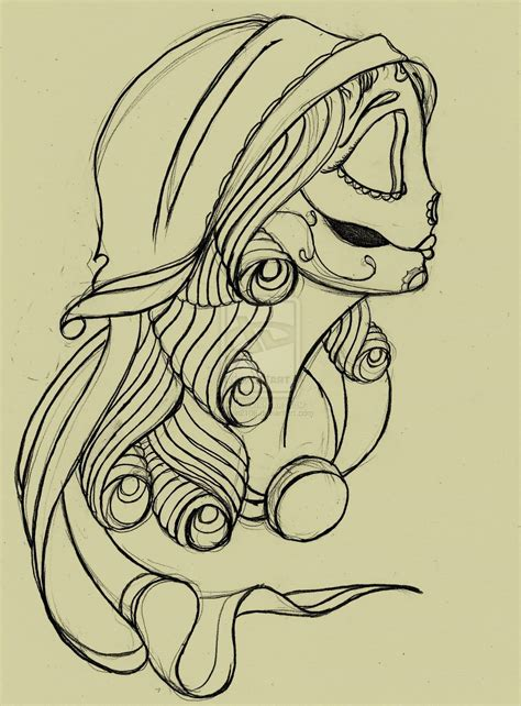 gypsy skull tattoo designs ideas and designs page 64