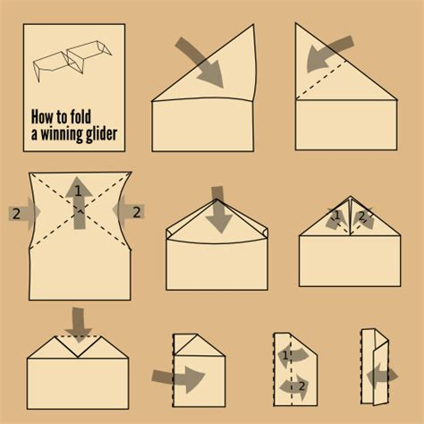 How Do You Make A Glider Paper Airplane - a design for a paper airplane a winning glider style by
