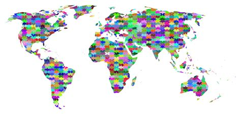 Jigsaw Puzzle World Map Clipart Prismatic Jigsaw Puzzle World Map