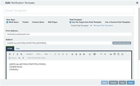 Notification Template by Notification Templates Axosoft Documentation