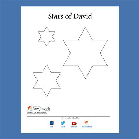printable jewish star template free star of david pattern pdf sew jewish