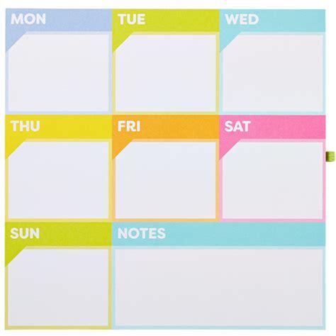 Murah Keyboard Weekly Pad Note Pad color me organized planner weekly calendar magnetic pad