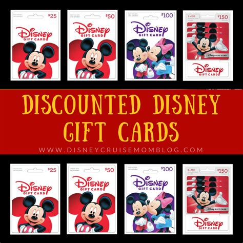 Discounted Disney Gift Card - discounted disney gift cards disney cruise mom blog