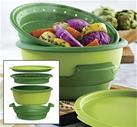 Tupperware Steam It Green in with tupperware shielded steamer genuine