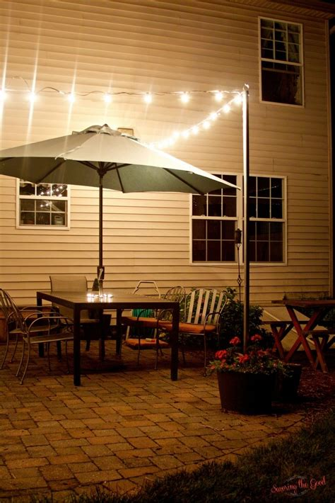 Outdoor Bistro Lights Diy Bistro Light Patio Planters Outdoor Living Space