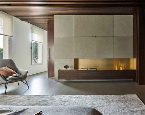 slaapkamer inrichten hout luxe slaapkamer met hout beton en goud homease