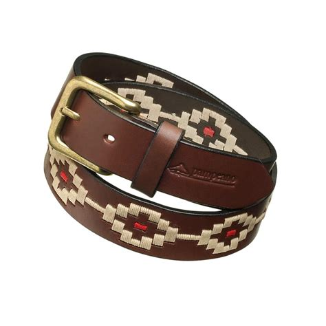 peano principe argentine leather polo belt gilders