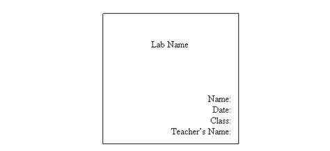 lab report cover page template lab report cover sheet wolf