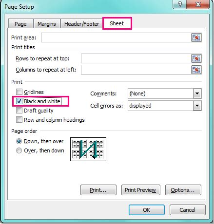 print selected worksheets excel how to print worksheet without fill color