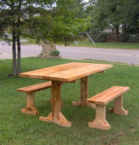 wooden picnic tables with separate benches wooden picnic tables with separate benches home design ideas and pictures