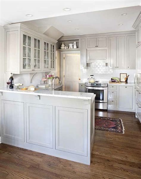 terracotta properties fabulous kitchen features gray shaker cabinets paired marble countertops subway kitchen shaker style
