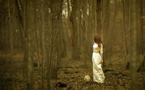 0008288607 the girl in the woods the girl in the woods with a globe wallpapers and images