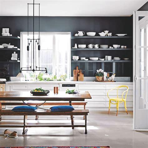 White And Grey Kitchen navy kitchen ideas ideal home