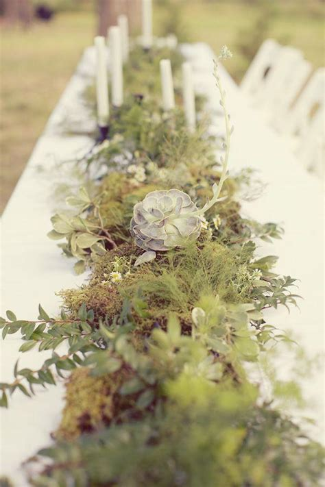 green wedding greenery table runner 2067111