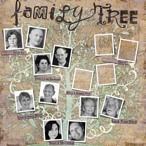 family tree template scrapbook scrapbook family tree template
